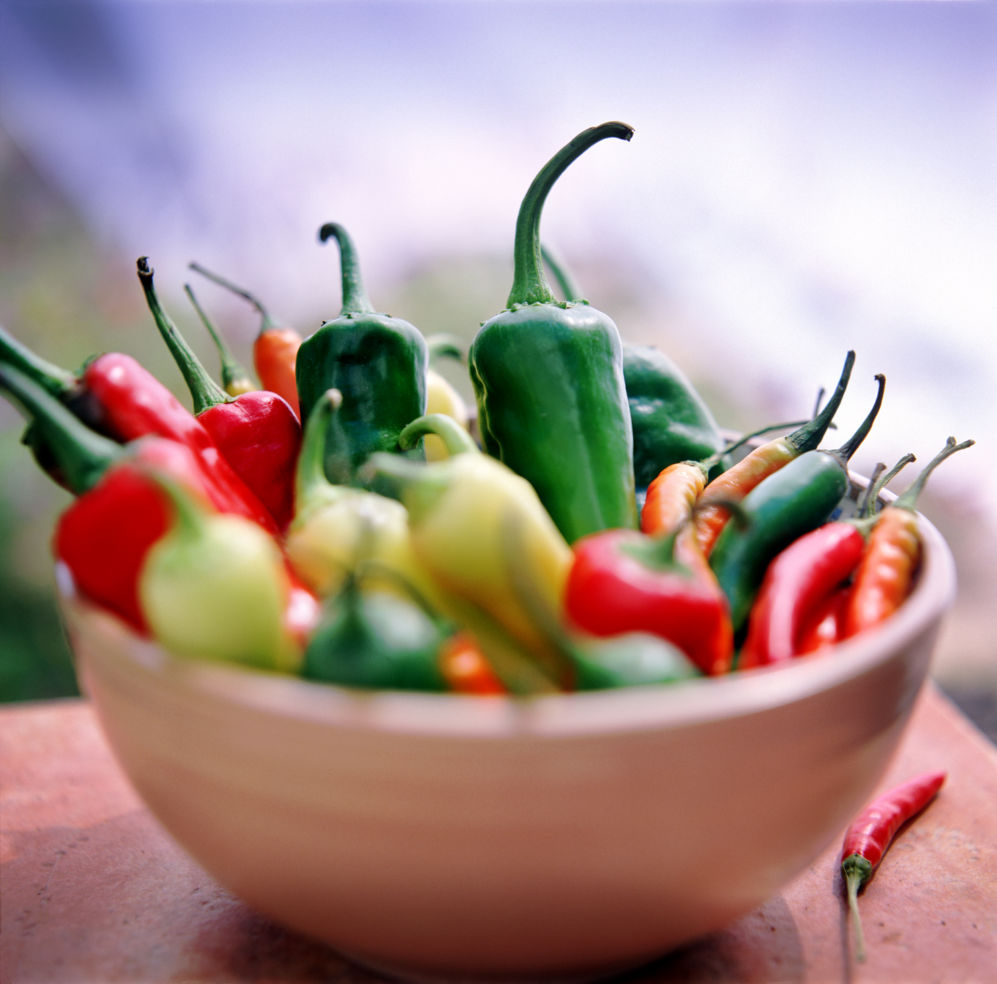 New Mexico Chiles in a bowl