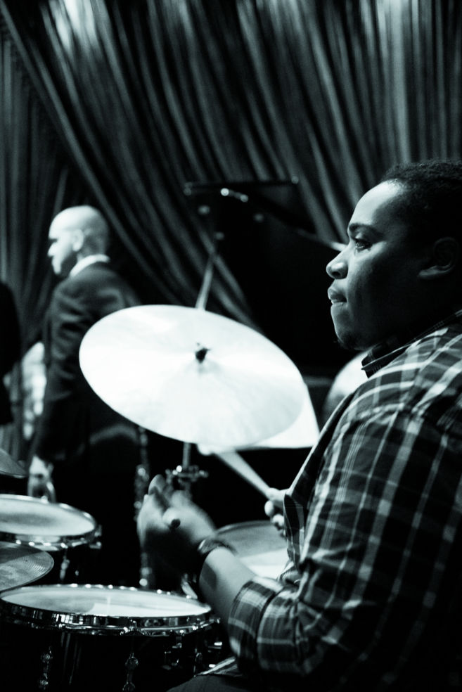 Jamison Ross on drums at Irvin Mayfield's Jazz Playhouse in the Royal Sonesta Hotel