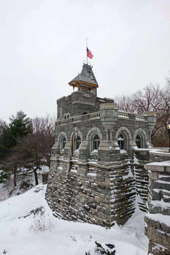 The tower of Belvedere Castle in Central Park