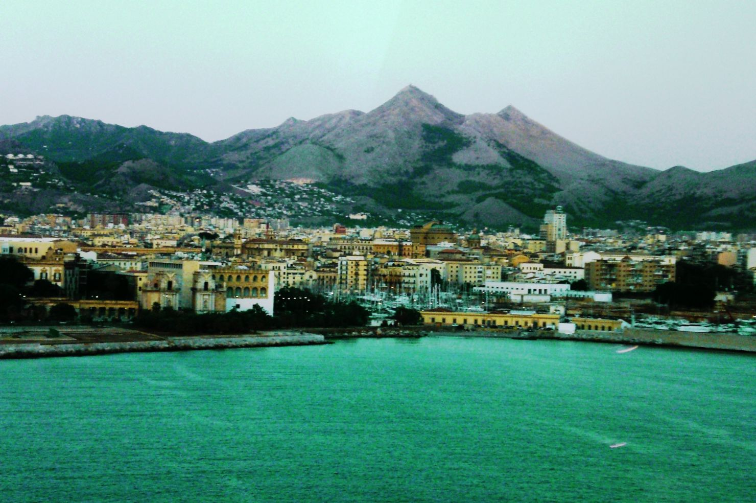 Palermo at dawn in Sicily