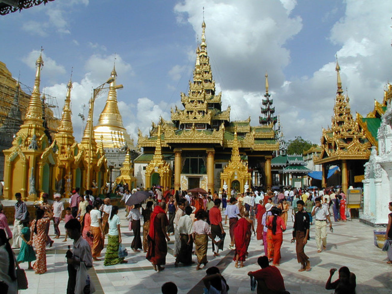 The Swedagon Pagoda in Burma, Myanmar