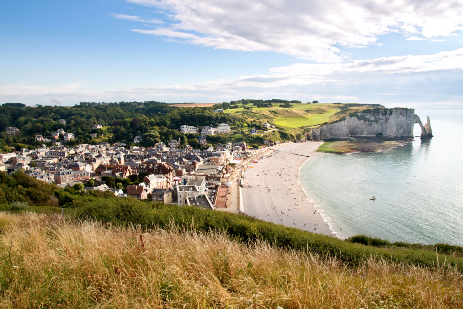 the beaches and cliffs of Etretat, Normandy.