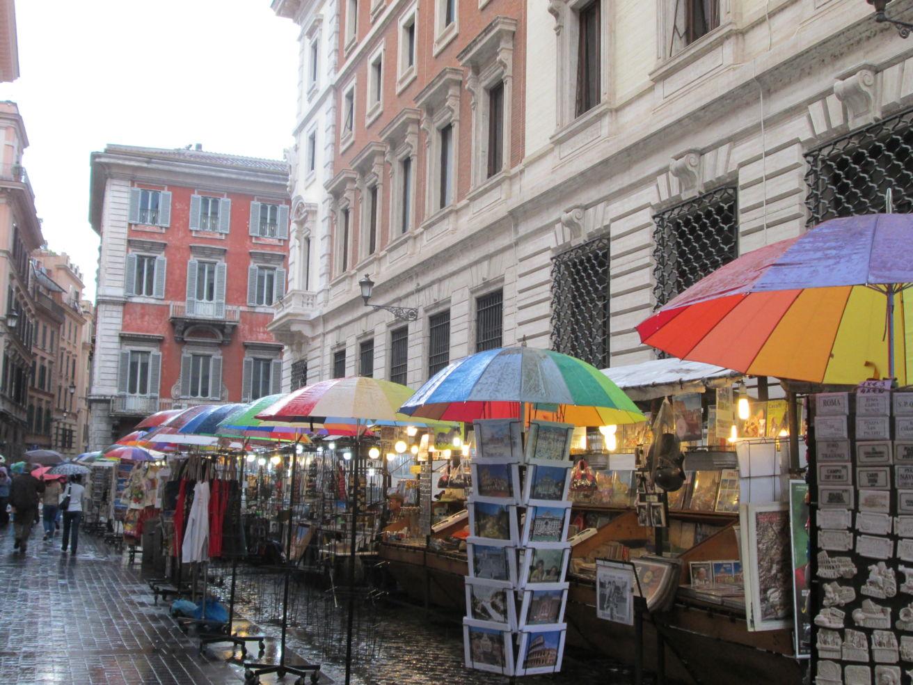 Vendors in Rome, Italy