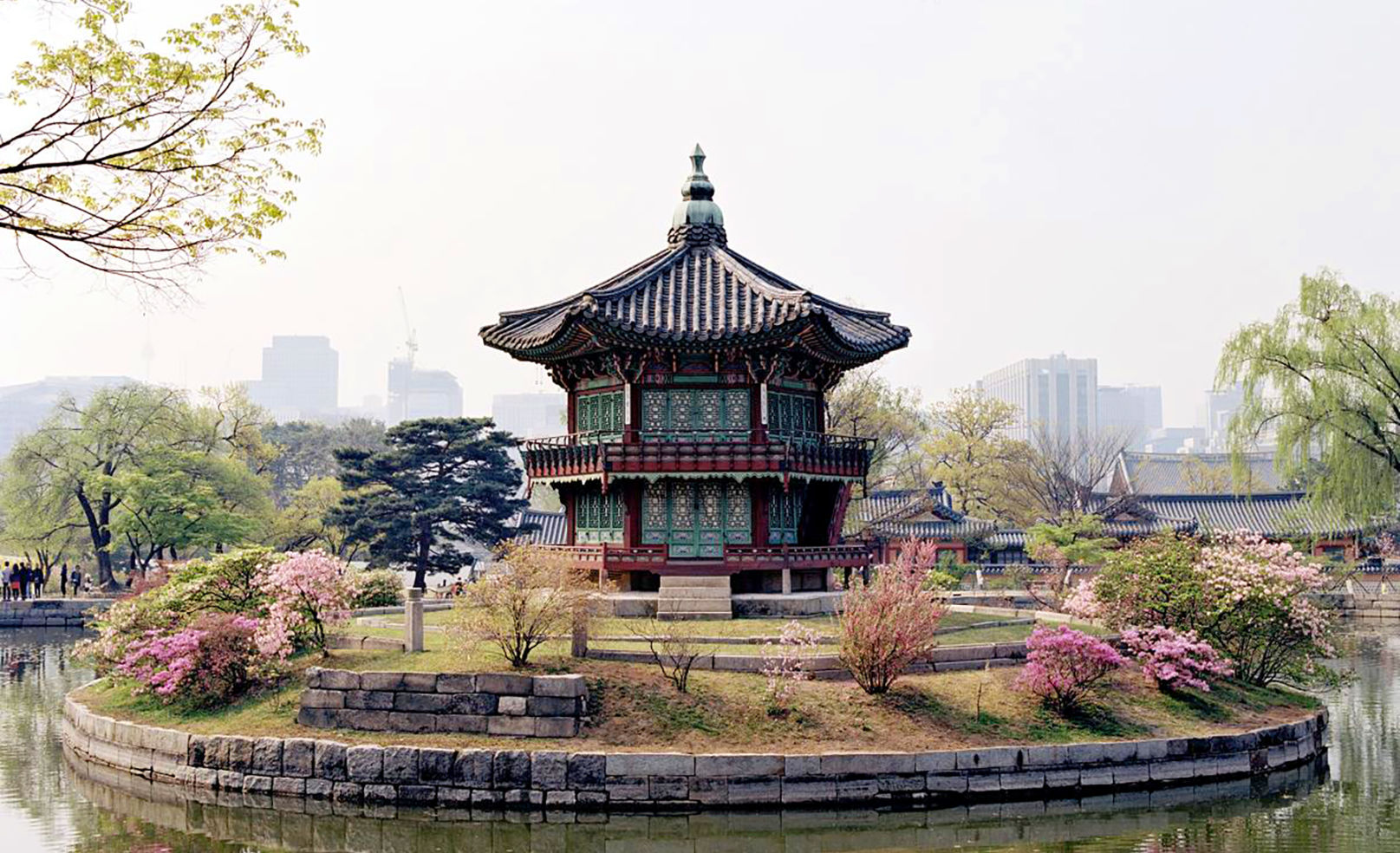 Hyangwonjeong Pavilion, Gyeongbokgung Palace, South Korea