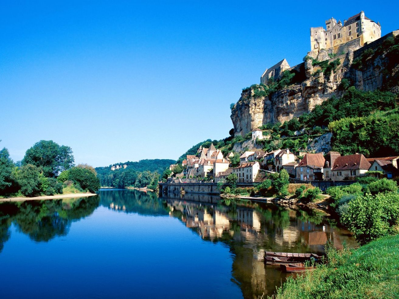 Dordogne River in France