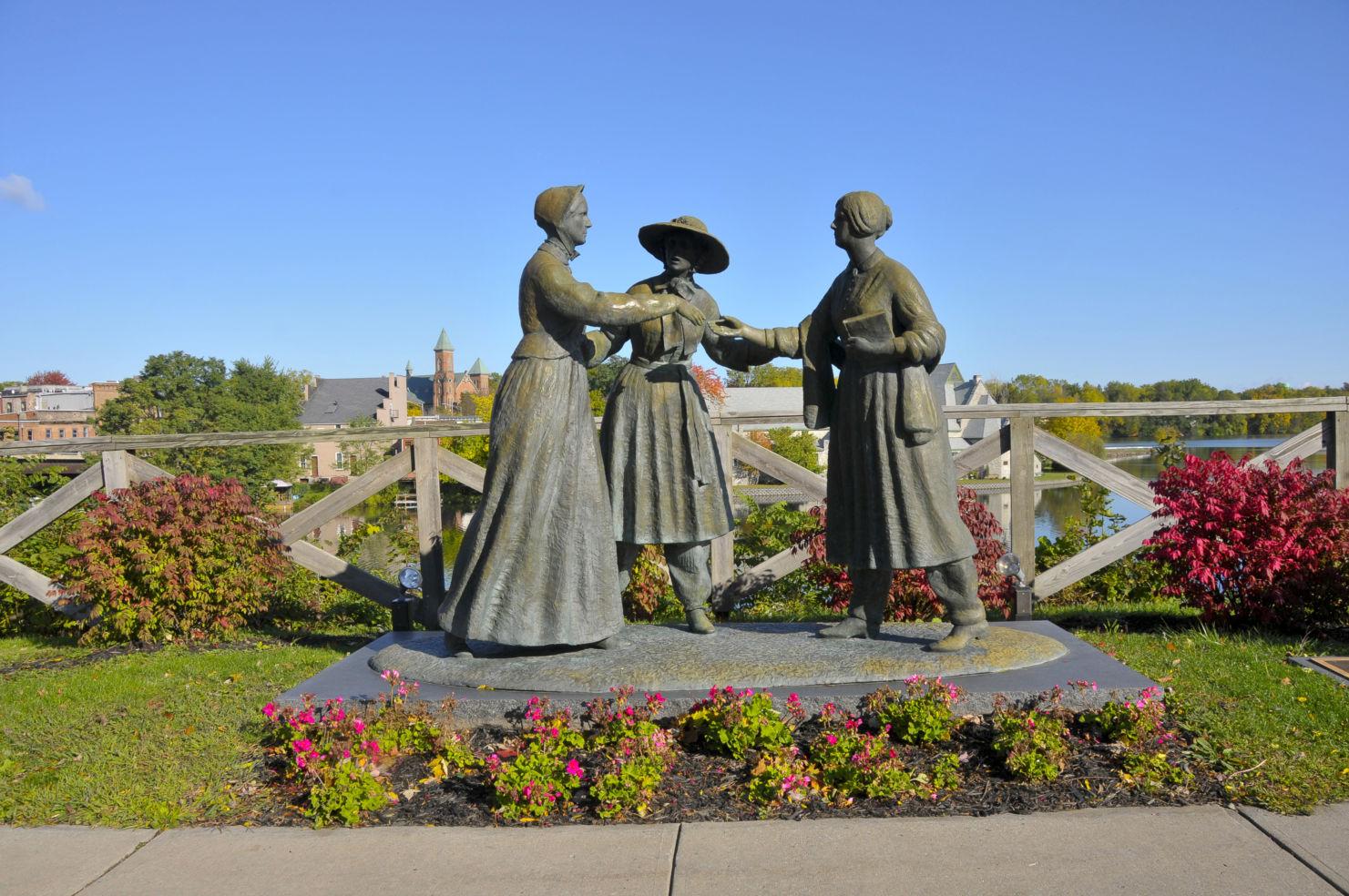 Statue of Susan B. Anthony, Amelia Bloomer and Elizabeth Cady Stanton, Seneca Falls, New York