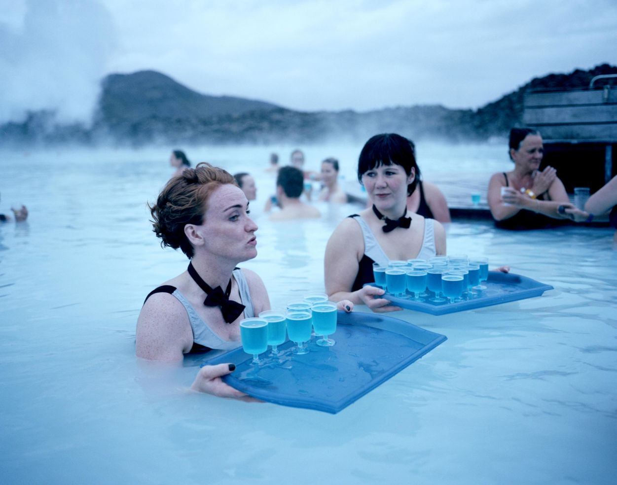 summer solstice. Blue lagoon, Iceland