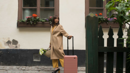 That's How She Rolls: Rashida Jones Designs a Cute Luggage Collection You'll Love  tumbnail