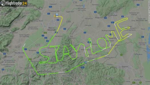 Pilots have been using their aircraft to spell out messages during the COVID-19 outbreak tumbnail