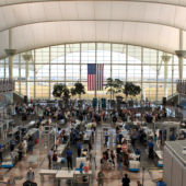 Airport Security USA Flag