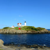 ​Maine's Cape Neddick Nubble lighthouse, Maine