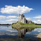Dunguaire Castle, Galway Bay in Kinvara, Ireland.