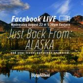Facebook Live promo Alaska mountains