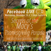 facebook live promo Macy's thanksgiving parade