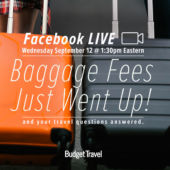 Promo for facebook live Baggage Fee