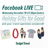 promo facebook live Gifts for Good