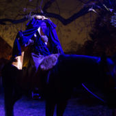 A scary model of the Headless Horseman from the Horseman's Hollow Halloween Celebration