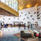 Big hotel lobby interior