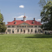 Lawn in front of Washington's mount vernon home