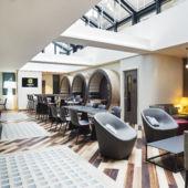 interior hotel lobby