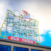 Sunny day portland oregon sign
