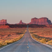 Empty Road Sunset Monument Valley