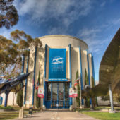 Entrance to San Diego Air and Space Museum