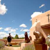 Statues and Sante Fe architecture