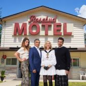 Schitts Creek Rosebud Motel With Cast