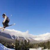 Skier Jumping  Alaska