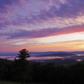 Sunset on Skyline Drive