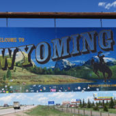 Welcome sign Wyoming