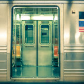 Open door of NYC Subway