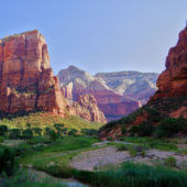 A Panoramic View of Zion National Park