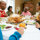 American Family Celebrating Thanksgiving