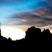 Arches National Park silhouette