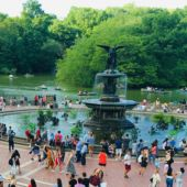 "Bethesda Fountain ""Angel of the Waters"" in New York City's Central Park"