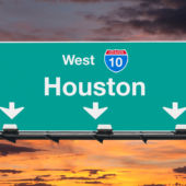 Houston highway sign