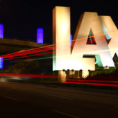 Los Angeles airport sign