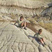 hiking, trail, Badlands, Dinosaur Provincial Park, Alberta, Canada