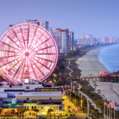 Myrtle Beach, South Carolina, city skyline.