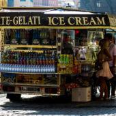A gelato cart in Rome