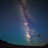 View of the night sky in Great Sand Dunes National Park