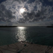 Late afternoon off the pier- cat island bahamas
