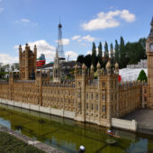 Models of Europe's most famous buildings at Mini Europe, in Brussels