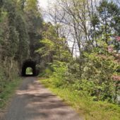 A view of the New River Trail, in Virginia