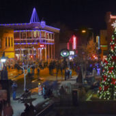 Downtown Flagstaff Arizona holiday lights