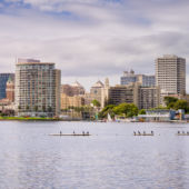 Oakland skyline Lake Merritt