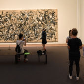 Children looking at a Jackson Pollock painting at the Met Museum, NYC