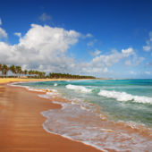 A view of the beach in Punta Cana, Dominican Republic